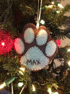 Homemade Felt ornament for the pooch. :)