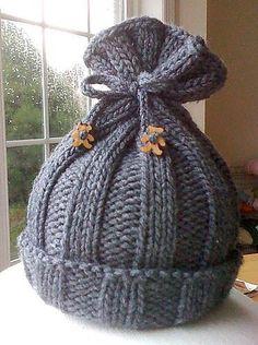 Knitting Patterns for Baby Free pattern, Rib-Knit Baby Hat by Jennifer Sauselein knit in Ber...