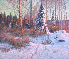 Anshelm Schultzberg (1862-1945): Vinterlandskap 1907