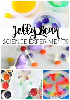 Try these Jelly Bean Science Activities for some sweet post Easter fun What in the world do you do with all of those lef Science Experiments Kids, Science For Kids, Science Fun, Earth Science, Summer Science, Science Chemistry, Physical Science, Science Education, Easter Activities For Kids