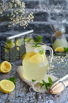 citronnade ou limonade au citron faite maison - Amour de cuisine Granita, Sorbets, Ramadan, Appetizers, Tasty, Table Decorations, Drinks, Mediterranean Kitchen, Moroccan Cuisine