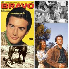 """Pierre Brice na titulních stránkách časopisů.  Pierre Brice v 60. a 70. letech se velmi často objevoval na titulních stranách časopisů a především časopisu pro mládež BRAVO. Bohužel tyto """"západní časopisy"""" bylo v tehdejším Československu velmi obtížné sehnat. Čas od času je v polské verzi bylo možné koupit v Domě polské kultury, ale většinou ten kdo měl to štěstí se dostat tenkrát na """"západ"""", tak je dovezl. A československá mládež si je půjčovala a pak i měnila. Byl to super artikl mezi…"""