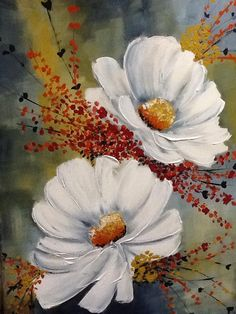 Painted Flowers...What talent! Michela # painting                                                                                                                                                                                 Más