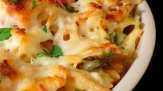 Chicken  Spinach pasta bake - using turkey sausage and whole-wheat pasta instead!
