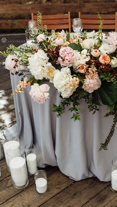 Purposeful stretched wedding centerpiece designs why not look here Emerald Wedding Colors, Fall Wedding Colors, Wedding Flowers, Purple Wedding Centerpieces, Wedding Reception Table Decorations, Grey Wedding Decor, Wedding Ideas, Wedding Themes, Dark Grey Weddings