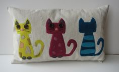 Cat pillow by Renee63, My sewing space