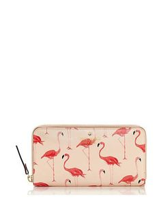 Kate Spade New York Cedar Street Lacey Flamingos Contiental Wallet