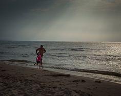 beach run with the family