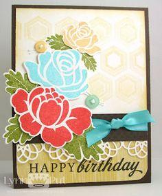 PTI rosie posie birthday card