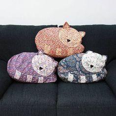 vintage inspired sleepy cat cushion by lisa angel homeware and gifts | notonthehighstreet.com