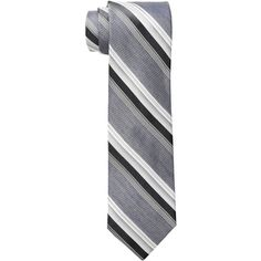 Calvin Klein Indy Tex Stripe (Black) Ties ($60) ❤ liked on Polyvore featuring men's fashion, men's accessories, men's neckwear and ties