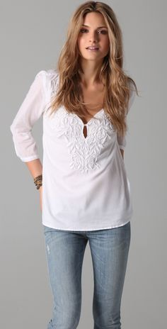 Aubin Embroidered Blouse by ShopBop