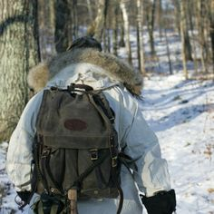 Frost River 732 Isle Royale Jr. Bushcraft Pack on a winter hike in Duluth MN