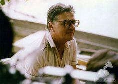 """Władysław Ślesicki na planie filmu """"Lato leśnych ludzi"""", 1984,  fot. fot. Studio Filmowe Kadr / Filmoteka Narodowa/www.fototeka.fn.org.pl"""