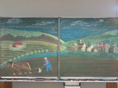 Waldorf Third grade : farm scene drawing