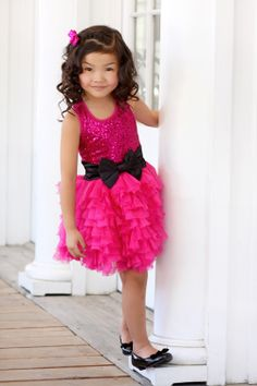 Sugar Plum Fairy Kids Boutique - Ooh La La Couture Hot Pink Sequin Wow Dream Dress, $49.00 on sale! 70% off!(http://www.sugarplumfairyboca.com/ooh-la-la-couture-hot-pink-sequin-wow-dream-dress/)