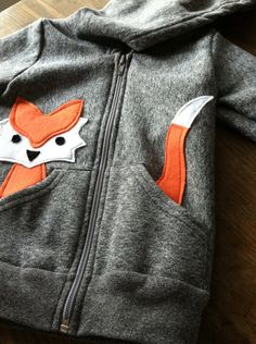 Custom Children's Fox Hoodie eco-friendly by LittleRootedGoods