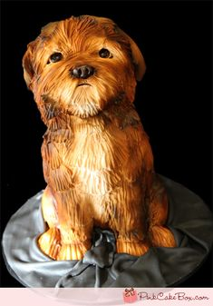 Sculpted Dog Groom's Cake by Pink Cake Box in Denville, NJ.  More photos at http://blog.pinkcakebox.com/sculpted-dog-grooms-cake-2011-11-24.htm  #cakes
