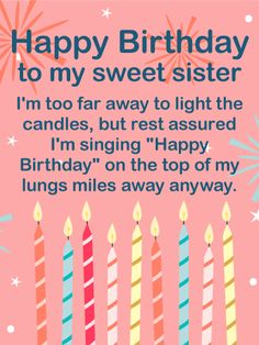 Birthday images for sister and Birthday wishes for sister and birthday quotes, happy birthday sister, Birthday wishes for sisters,birthday cards for sister. Birthday Greetings For Sister, Birthday Messages For Sister, Message For Sister, Happy Birthday Wishes Cards, Birthday Wishes For Daughter, Happy Birthday Images, Card Birthday, Happy Birthday Sweet Sister, Sister Messages