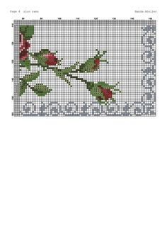 Cross Stitch Rose, Cross Stitch Embroidery, Rose Bouquet, Diy Flowers, Crochet Patterns, Sewing, Floral, Tablecloths, Crossstitch