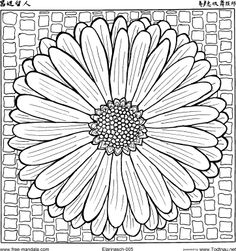 Decorative Rocks Ideas : This is from a website with 102 free mandalas to color! LOTS of cool ones in MANY styles! Really love this website for my grown up coloring needs! Mandala Coloring Pages, Coloring Book Pages, Printable Coloring Pages, Coloring Sheets, Coloring Pages For Grown Ups, Arte Popular, To Color, Line Drawing, Sketches