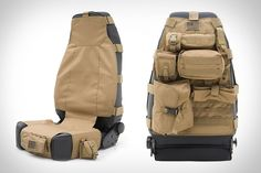 Smittybilt Gear Seat Covers - finally, mil-spec modular seat protection to maximize and personalize your vehicle space!