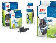Packaging Juwel Aquarium - Design & Concept by Redeleit und Junker Fonts: Myriad Pro, PF Square Sans Pro