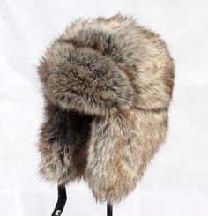 Image result for fur trapper hat mens