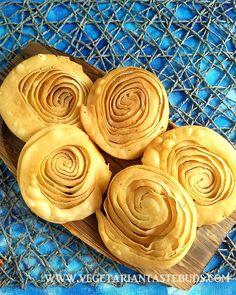 Namkeen chirote recipe | parat puri | crispy verki poori recipe | layered puri recipe | Vegetarian Tastebuds Puri Recipes, Veg Recipes, Vegetarian Recipes, Snack Recipes, Diwali Snacks, Diwali Food, Kneading Dough, Chaat Masala, Tea Time Snacks