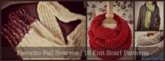 Favorite Fall Scarves: 18 Knit Scarf Patterns - Stitch and Unwind