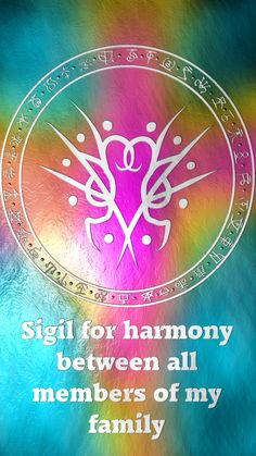 Sigil for harmony between all members of my family Requested by Anonymous Here you go my friend. Thank you for the request, I appreciate it. Sigil requests are open. For more of my sigils go...