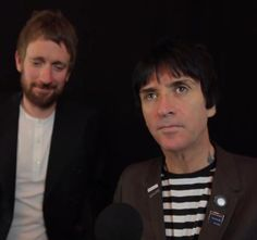 Johnny Marr and Bradley Wiggins at the Xperia Access Q Awards