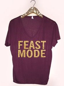 Feast Mode - Holiday Tank - Ruffles with Love - RWL - Graphic Tee