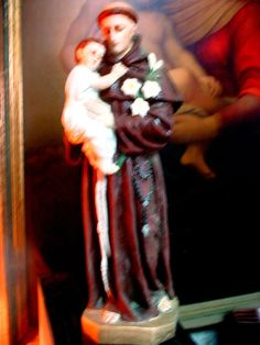 """St Anthony of Padua   VINTAGE CATHOLIC STATUE 16"""" TALL COMPOSITION Catholic"""