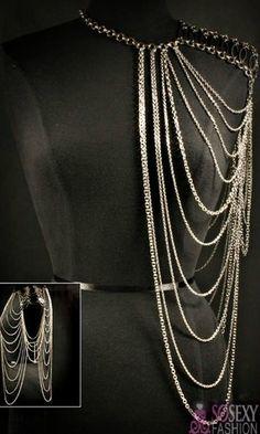 'Kim' Shoulder Armour Body Chain