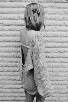 Luxury backless knitwear
