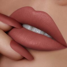 """New Mod Liquid Lipstick <br> Achieve the """"no-makeup"""" look you crave! This lightweight satin-matte lip color features a deluxe hydrating formula and provides extreme color payoff in one saturated swipe. Matte Lipstick Shades, Matte Lip Color, Makeup Lipstick, Liquid Lipstick, Mac Lipstick, Liquid Makeup, Fall Lipstick Colors, Best Lipstick Color, Brown Lipstick"""