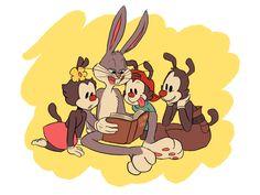 Animaniacs: The Warner Uncle by Retrograde Bugs Bunny, Animaniacs Characters, Cartoon Characters, Old Cartoons, Classic Cartoons, Black Cartoon, Cartoon Art, Cartoon Illustrations, Looney Tunes
