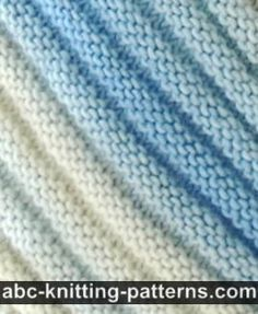 Diagonal Scarf {easy} | ABC Knitting Patterns