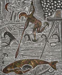 Torres Strait Lino Print
