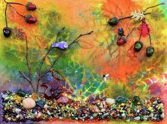 """Autumnal Enchantment"" 11x14in mixed media art by Donna ""Blacky"" Blackhall $125.00"