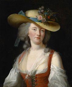 Portrait de Anne Catherine Le Preudhomme de Chatenoy, Comtesse der Verdun, 1776, by Élisabeth Vigée-Lebrun