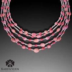 Magical strands of conch pearl and diamonds just the way I like to wrap my neck in a summery Sunday! Over 330cts of conch pearl and 60cts of diamond...a fabulous Sunday look! @karen.suen #KarenSuenFineJewellery #KarenSuen #Designer #BespokeJewels #PreciousStones #Diamond #Art #Design #Craftsmanship #Highend #FineJewelry #ConchPearl #HauteJoaillerie  #Unique #HongKong #NewYork #Dubai #Milan #Paris #Geneva #London #Moscow #Kuwait #Qatar #Bahrain #Jakarta #Malaysia #Doha #KualaLumpur
