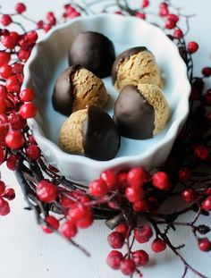 WOW. Chocolate covered peanut butter balls