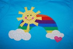 WE LOVE IT!!!  Rainbow applique tshirt by curiosew on Etsy, $18.00