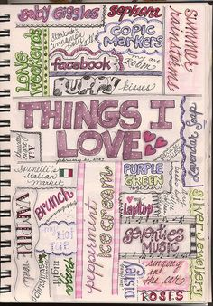 Gr.at idea for a journal page....just fill in personal 'things I love'/