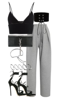 """Untitled #3210"" by theeuropeancloset ❤ liked on Polyvore featuring Vika Gazinskaya, T By Alexander Wang, Dsquared2, Yves Saint Laurent, Manokhi, ASOS and Monica Vinader"