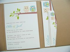 Not only could be used as wedding invites, but baby shower invitations too!