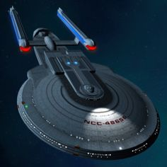 USS Trailblazer by Model by Rick Knox I like the look of the extra impulse engines, but why did she really need an extra set? What do you think of the changes made to the Excelsior model. Excelsior Class, Starfleet Ships, Star Trek Starships, Star Trek Ships, Star Trek Universe, Spaceships, Science Fiction, Planets, Geek Stuff