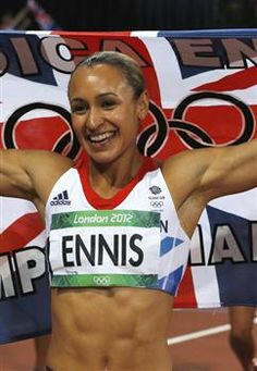 Athlete and Olympics gold medallist Jessica Ennis-Hill- Half Jamaican and half English.